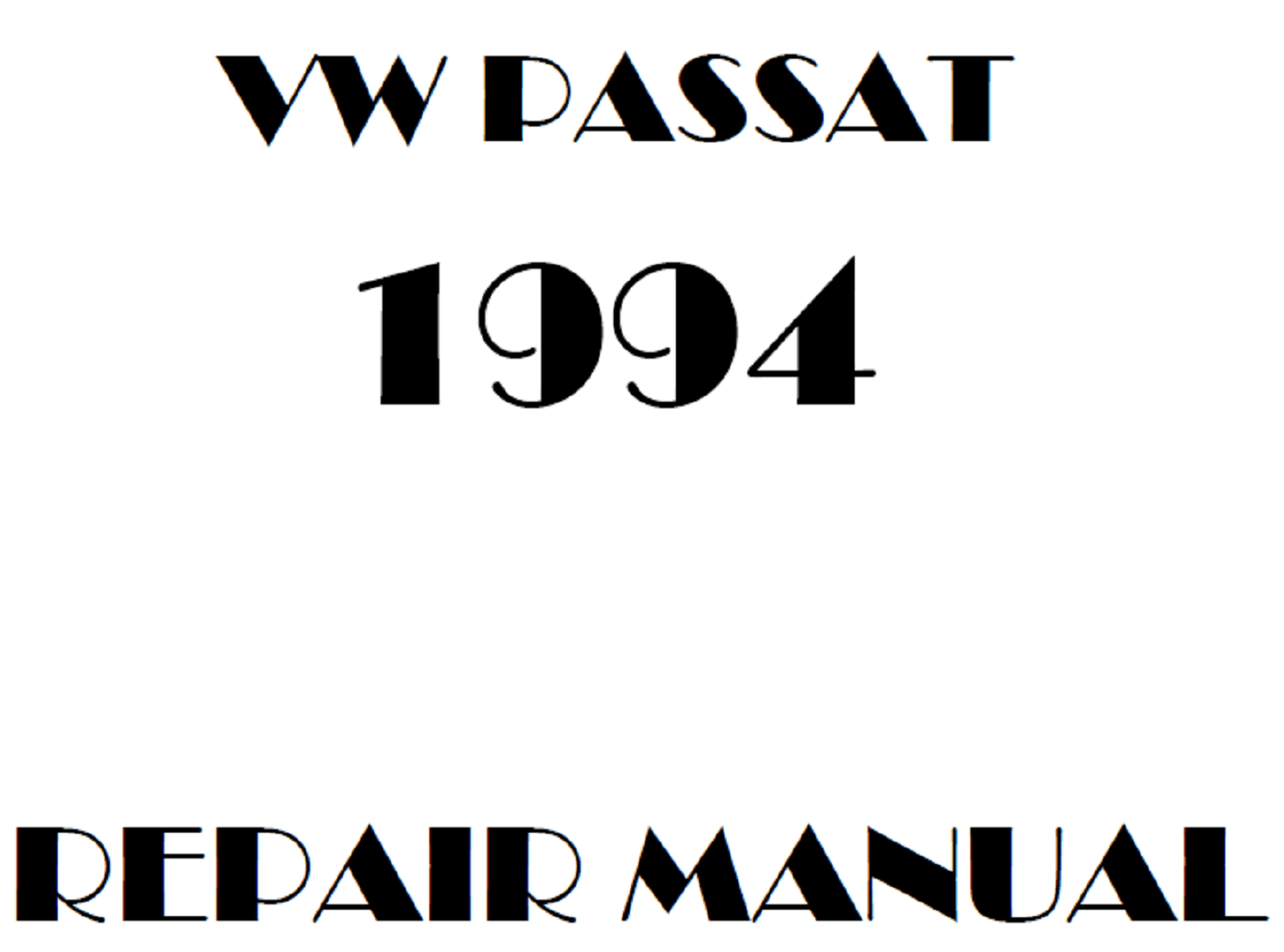1994 Volkswagen Passat repair manual