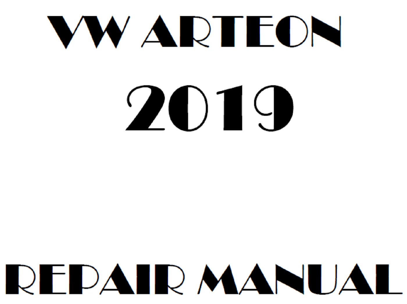 2019 Volkswagen Arteon repair manual