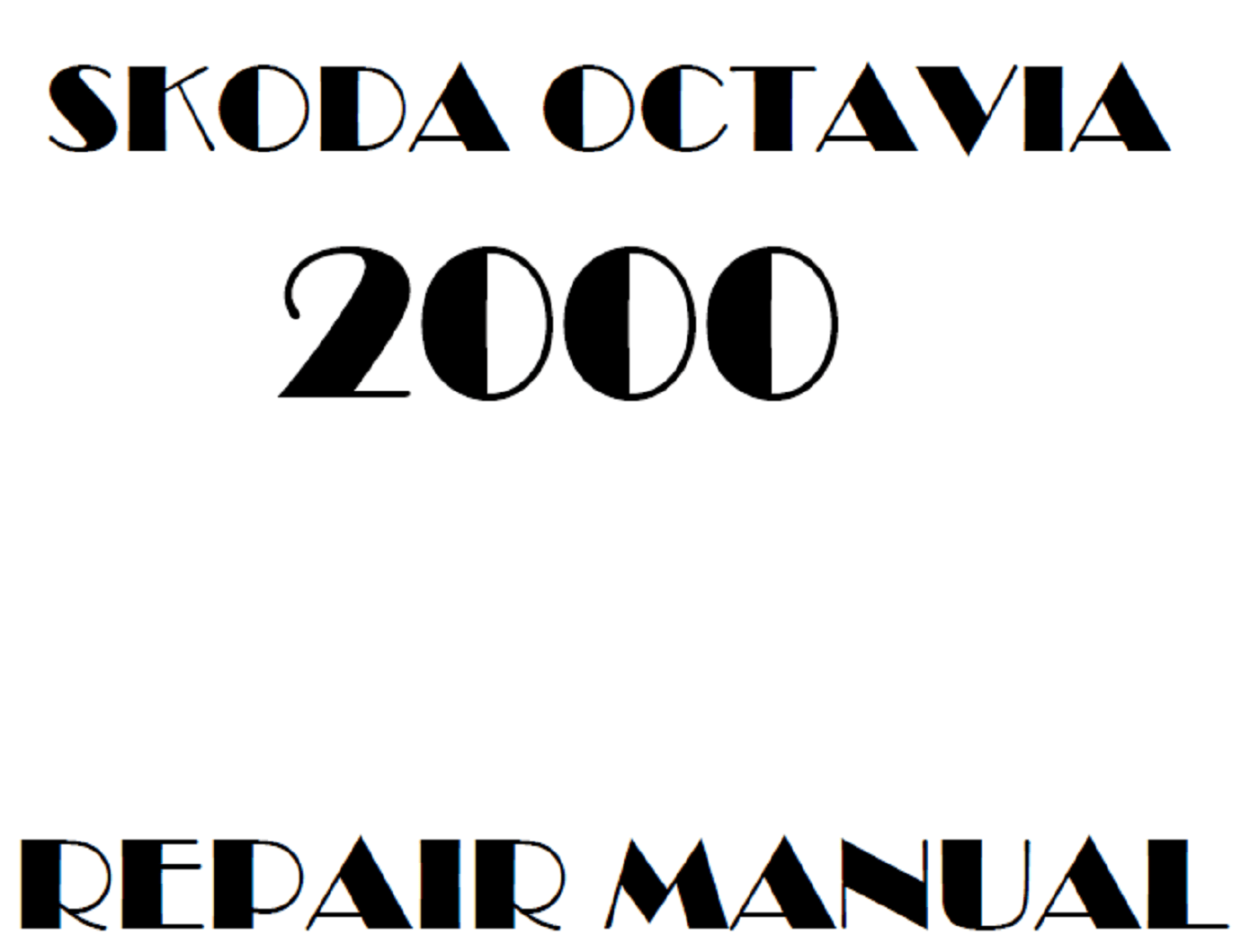 2000 Skoda Octavia repair manual