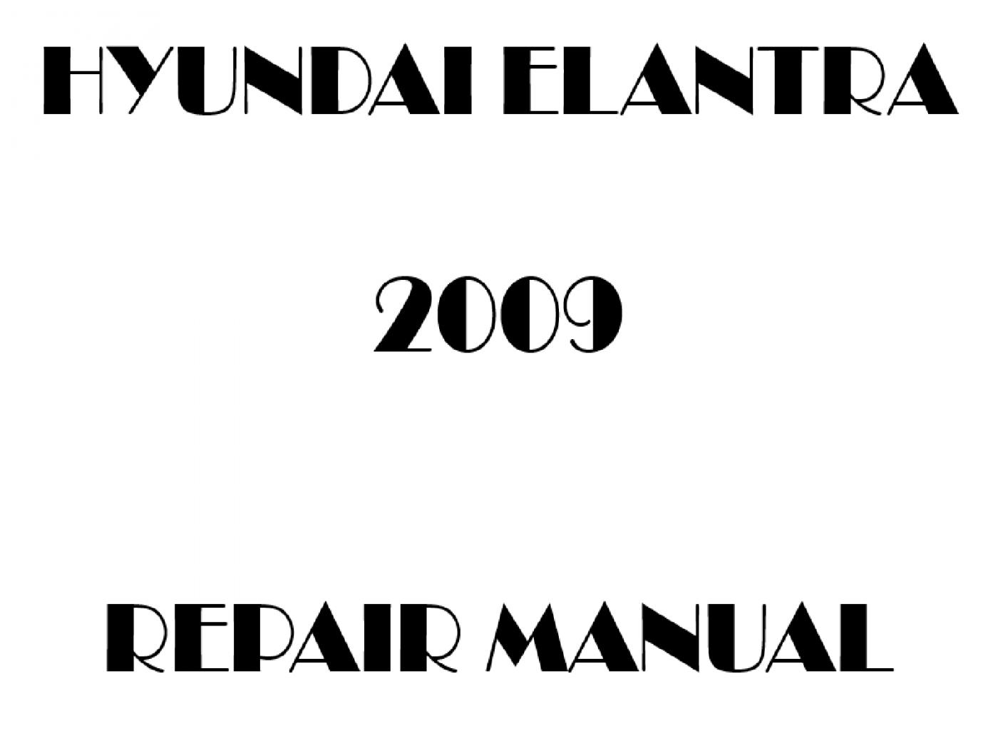 2009 Hyundai Elantra repair manual