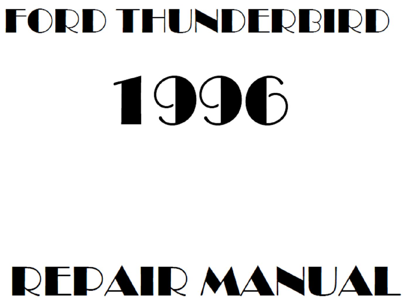 1996 Ford Thunderbird repair manual