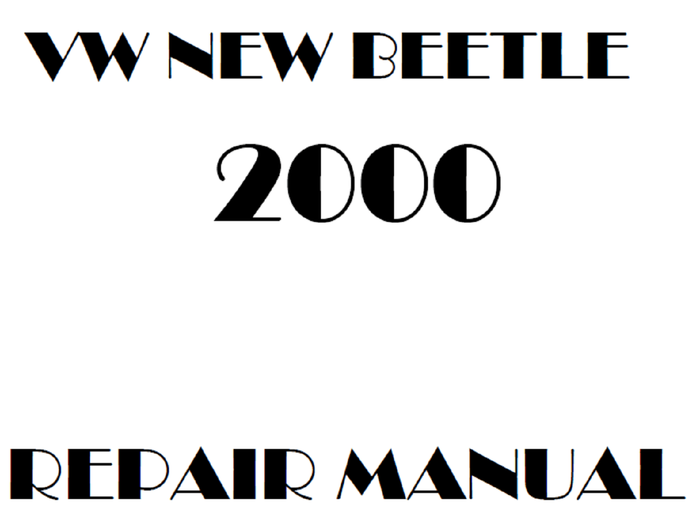 2000 Volkswagen New Beetle repair manual