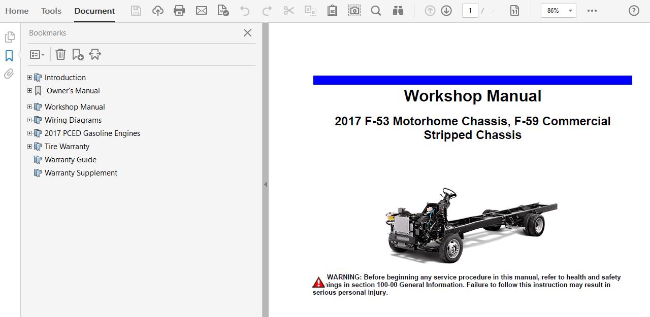 2017 Ford F53 repair manual