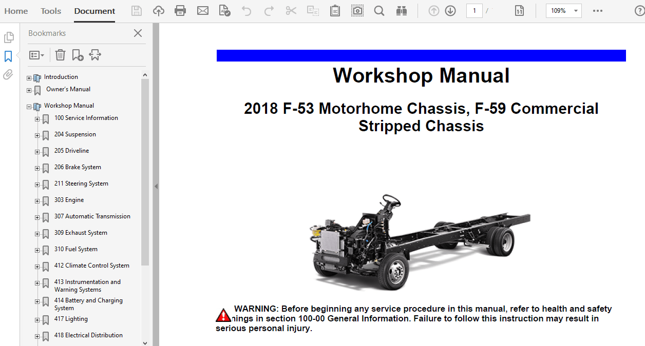 2018 Ford F59 repair manual