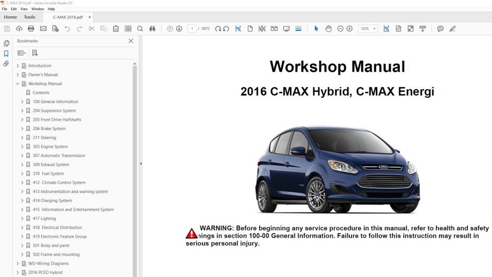 medium resolution of ford c max 2013 2014 2015 2016 2017 2018 repair manual