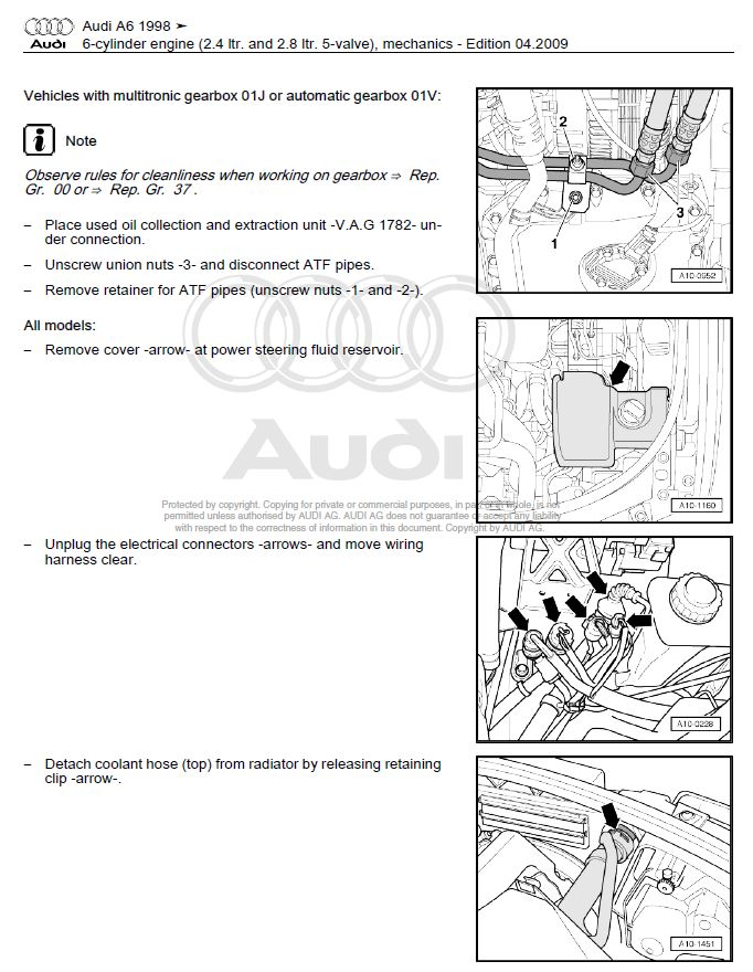 2001 Audi A6 Cooling Hose Diagram. Audi. Auto Parts