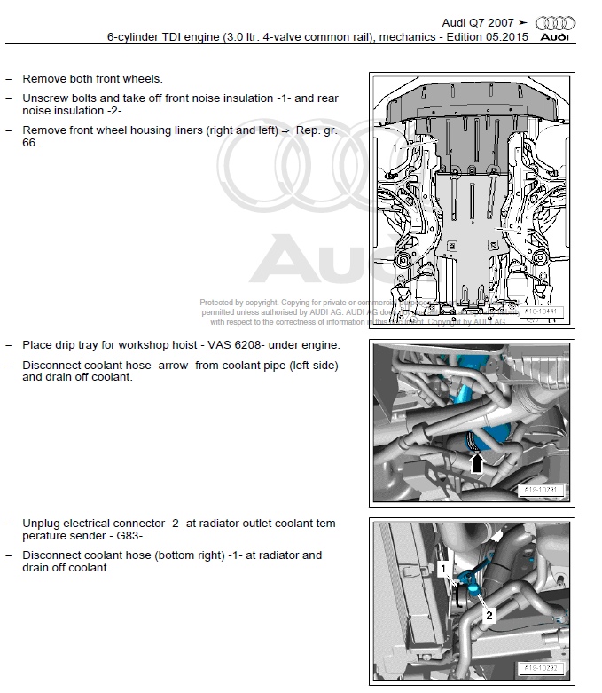 Service manual [2011 Audi R8 Workshop Manuals Free Pdf