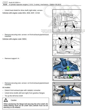 Audi A3 S3 20032008 repair manual | Factory Manual