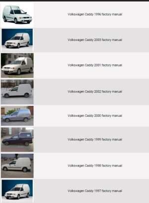 Volkswagen Caddy 19962003 repair manual   Factory Manual