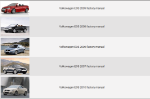 Volkswagen EOS 20062010 repair manual | Factory Manual