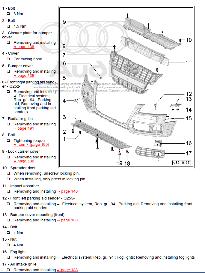 Audi Q7 2005-2009 factory repair manual