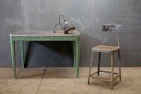 Old Industrial Steel Wood Drafting Chair : Factory 20