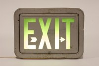 Vintage Exit Sign Table Lamp : Factory 20