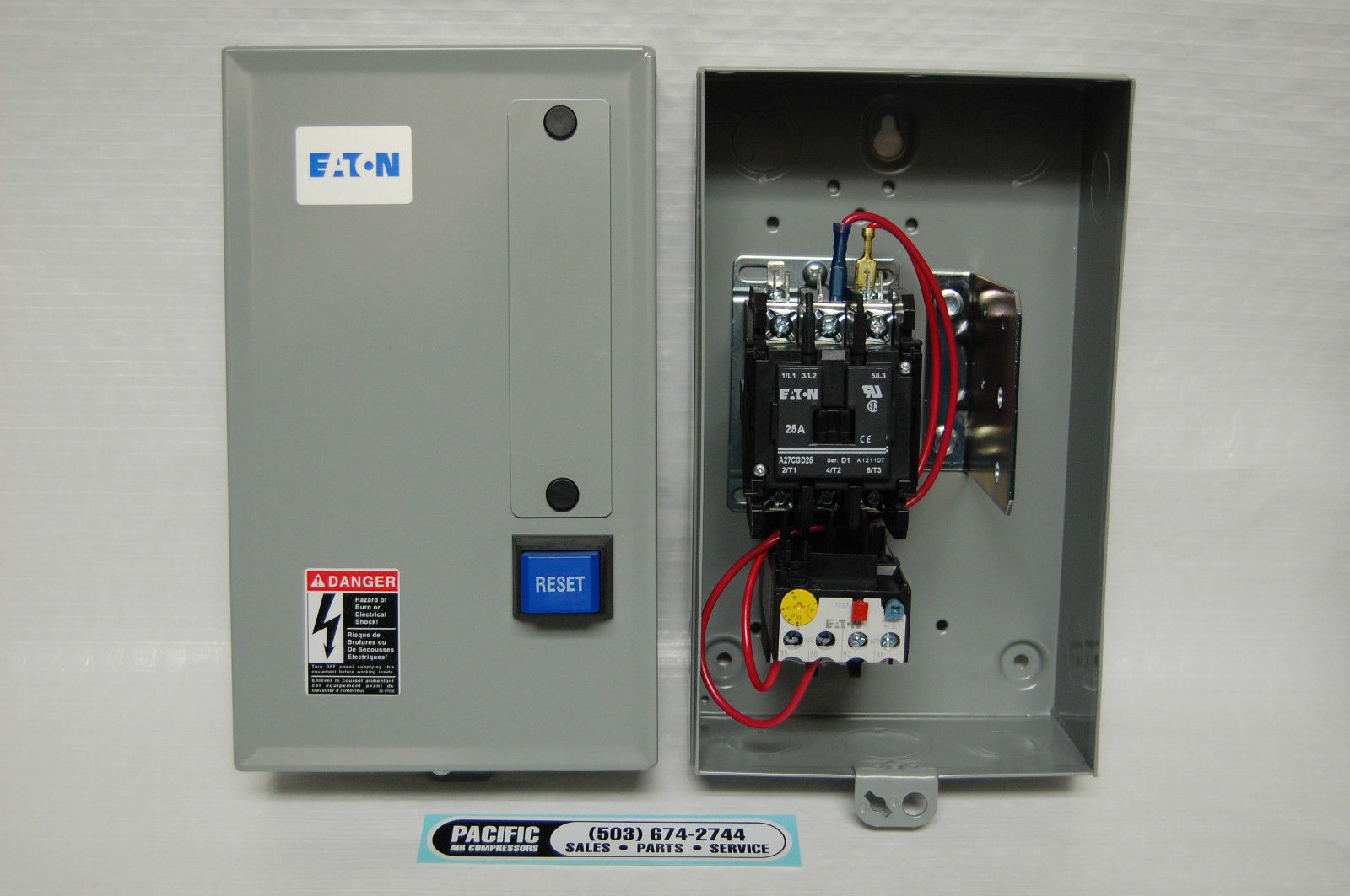 230 volt 3 phase wiring diagram 2005 ford taurus ignition eaton magnetic motor starter 15 hp three