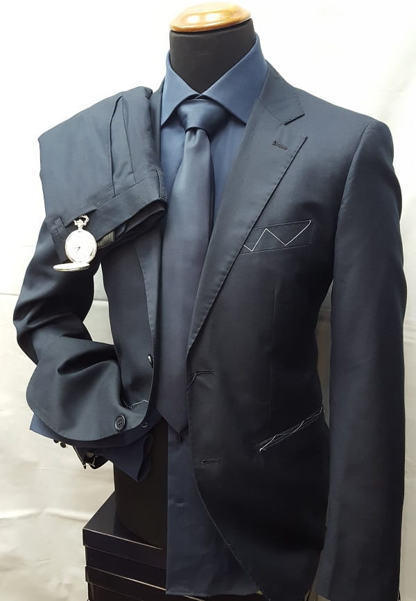 Factory Basic abito tinta unita blu1 ott