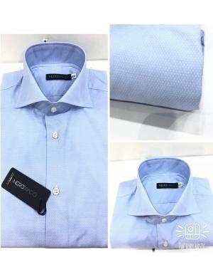 Camicia Uomo Cotone Micro-Puntini