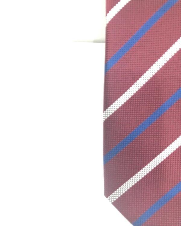 Cravatta Artigianale Regimental Pura Seta Bordò