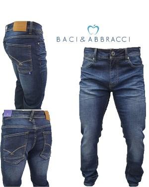 Jeans Uomo Baci & Abbracci Cinque Tasche
