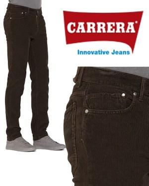 Pantalone Velluto da Uomo Carrera Marrone