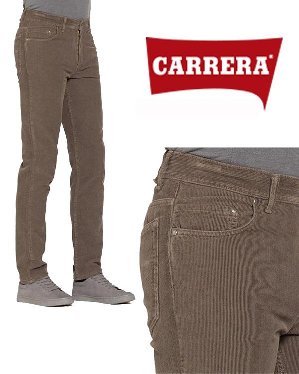 Pantalone Velluto da Uomo Carrera Marrone Chiaro