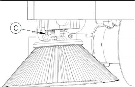5 side broom adjustment slot c see picture below