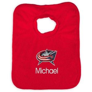 Infant Columbus Blue Jackets Red Personalized Bib