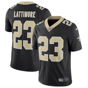Men's New Orleans Saints Marshon Lattimore Nike Black Vapor Untouchable Limited Jersey