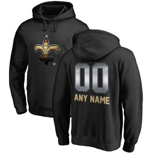 Men's New Orleans Saints NFL Pro Line by Fanatics Branded Black Personalized Midnight Mascot Pullover Hoodie