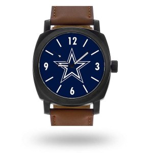 Men's Dallas Cowboys Sparo Brown Personalized Strap Watch
