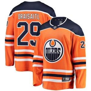 Men's Edmonton Oilers Leon Draisaitl Fanatics Branded Orange Breakaway Player Jersey