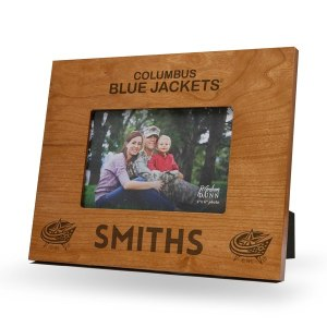 Columbus Blue Jackets Sparo Brown 9.75'' x 7.75'' Personalized Wood Picture Frame