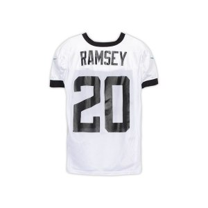 Jacksonville Jaguars Jalen Ramsey Fanatics Authentic Practice-Used #20 White Jersey from the 2018 NFL Season - Size 48