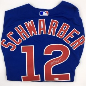 Kyle Schwarber Autographed Authentic Cubs Blue Jer wholesale Bryce Harper limited jersey