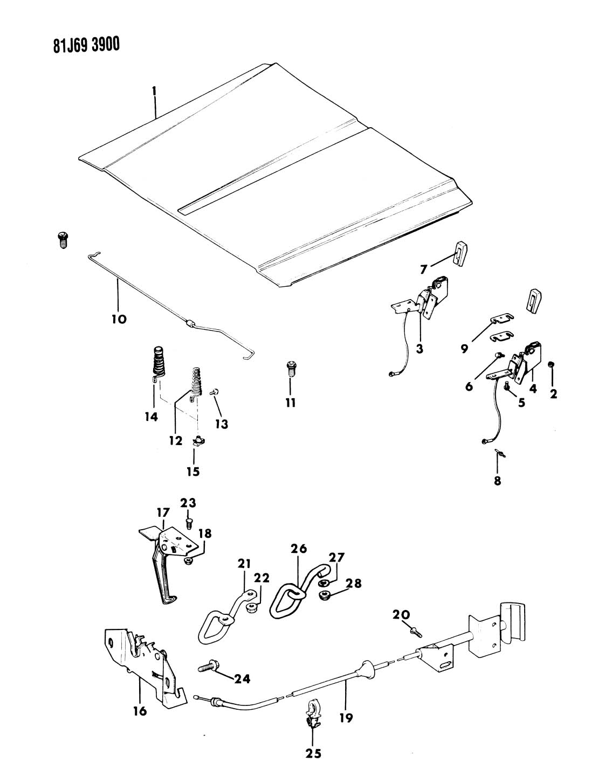 1984 Fsj Grand Wagoneer Specification Diagrams