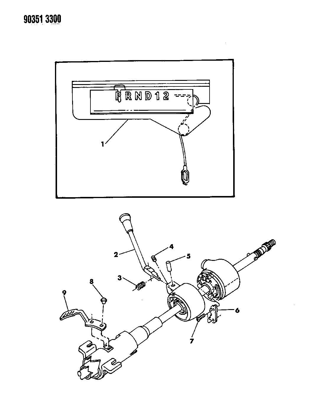 Service manual [Changeing Gear Shift Assembly 1993 Dodge