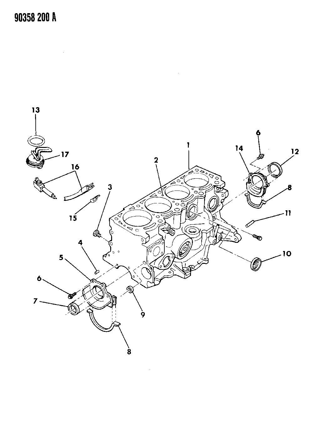 Dodge Grand Caravan O ring. Engine block heater. Width