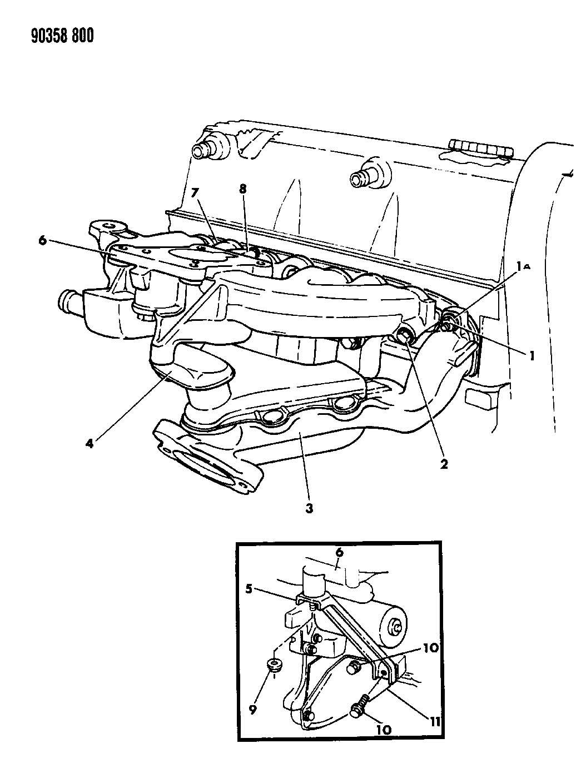 1988 Chrysler Bolt. Hex flange head. M8x1.25x90. Edgturbo