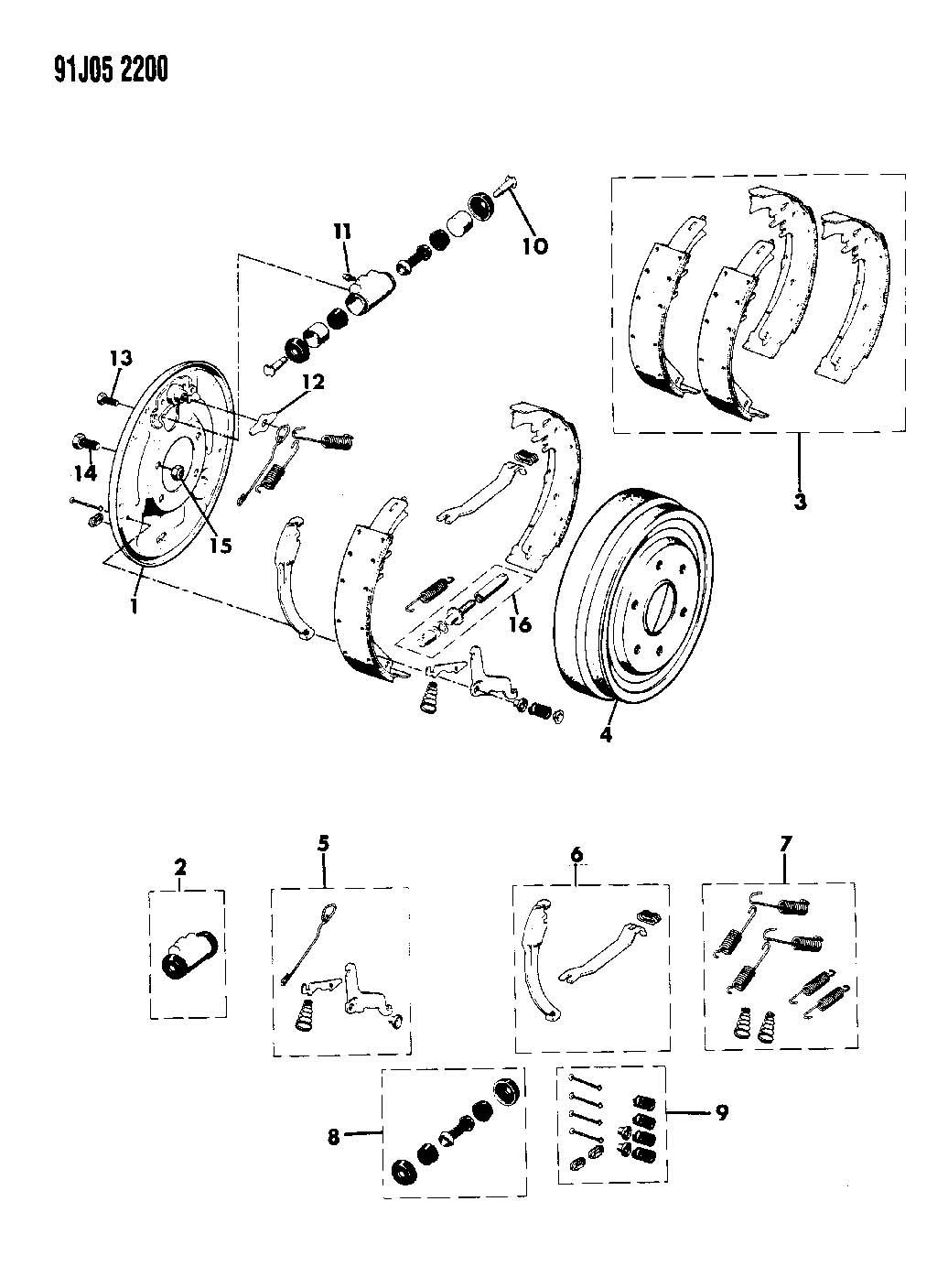 Jeep BRAKES, REAR DRUM GRAND WAGONEER