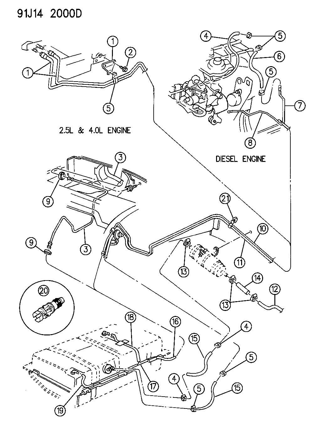 Service manual [How To Unblock Fuel Line Inside 1992 Jeep