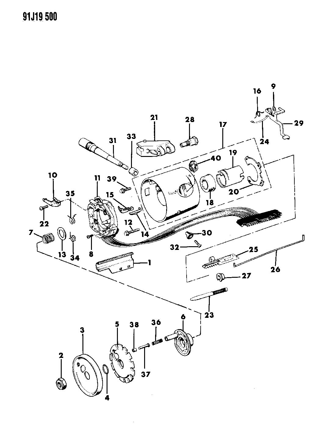 1989 Jeep Cherokee Steering Column Wiring Diagram