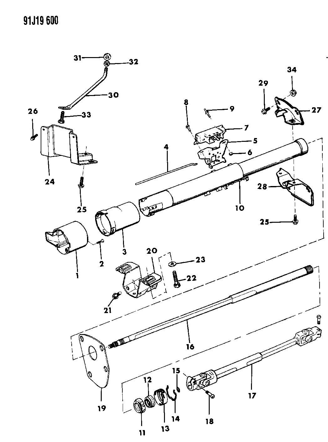 Service manual [1993 Dodge Colt Tilt Steering Column