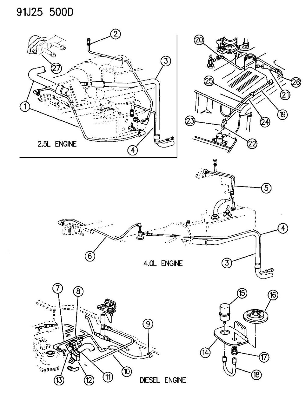medium resolution of 1990 jeep wrangler 4x4 vacuum diagram