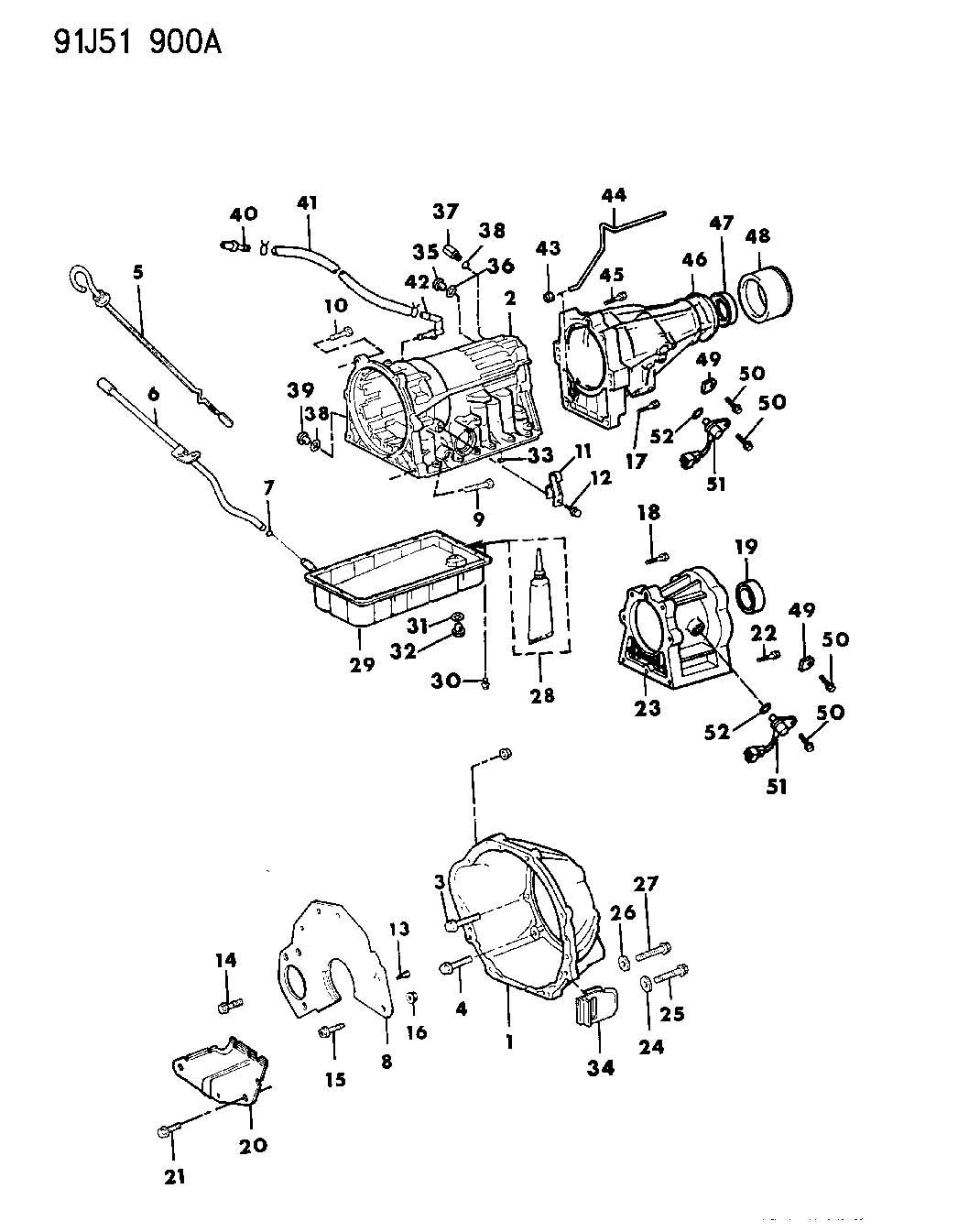 1995 Jeep Union. Transmission oil cooler. 52104180ab