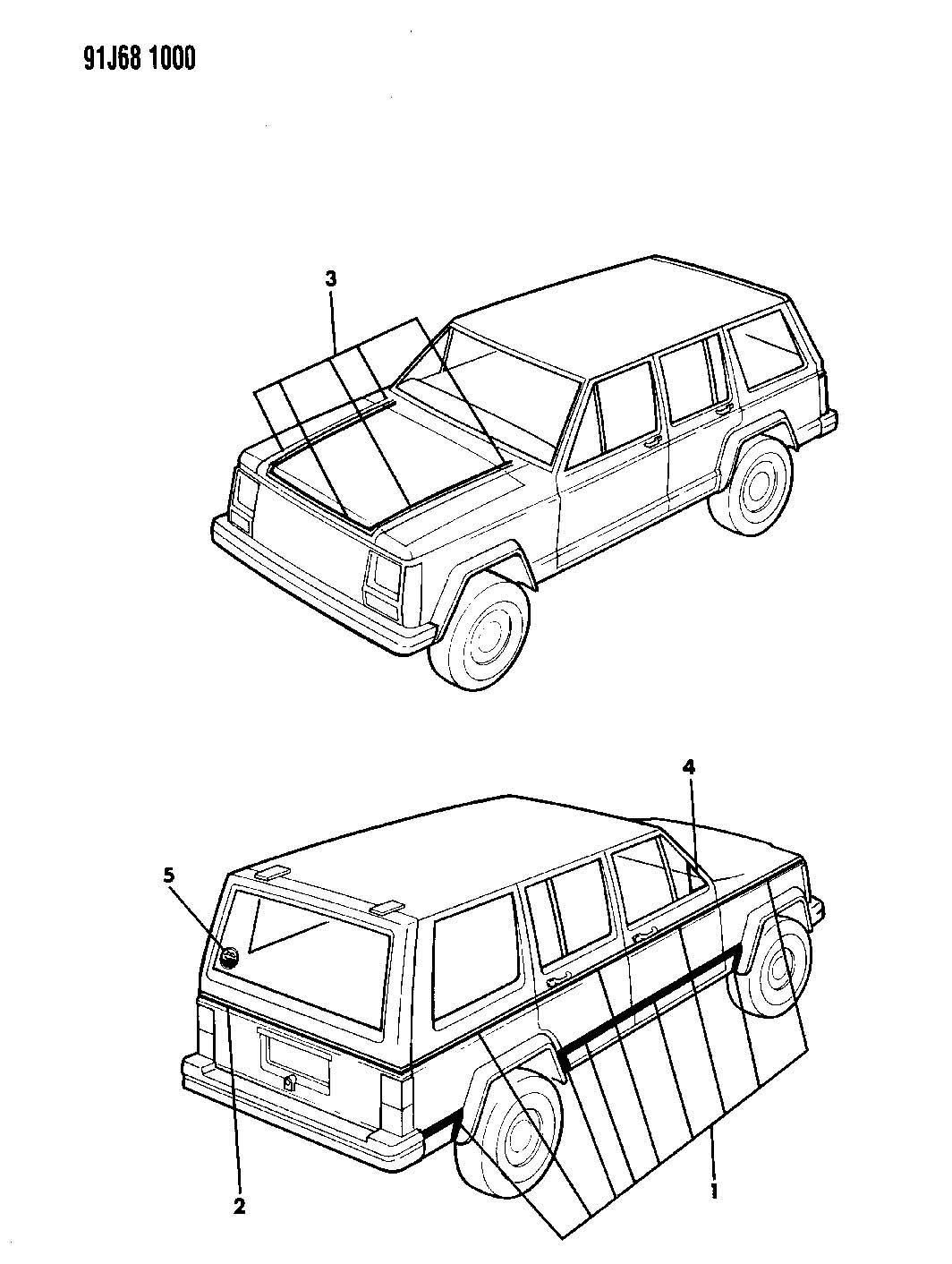 1992 Jeep xj parts