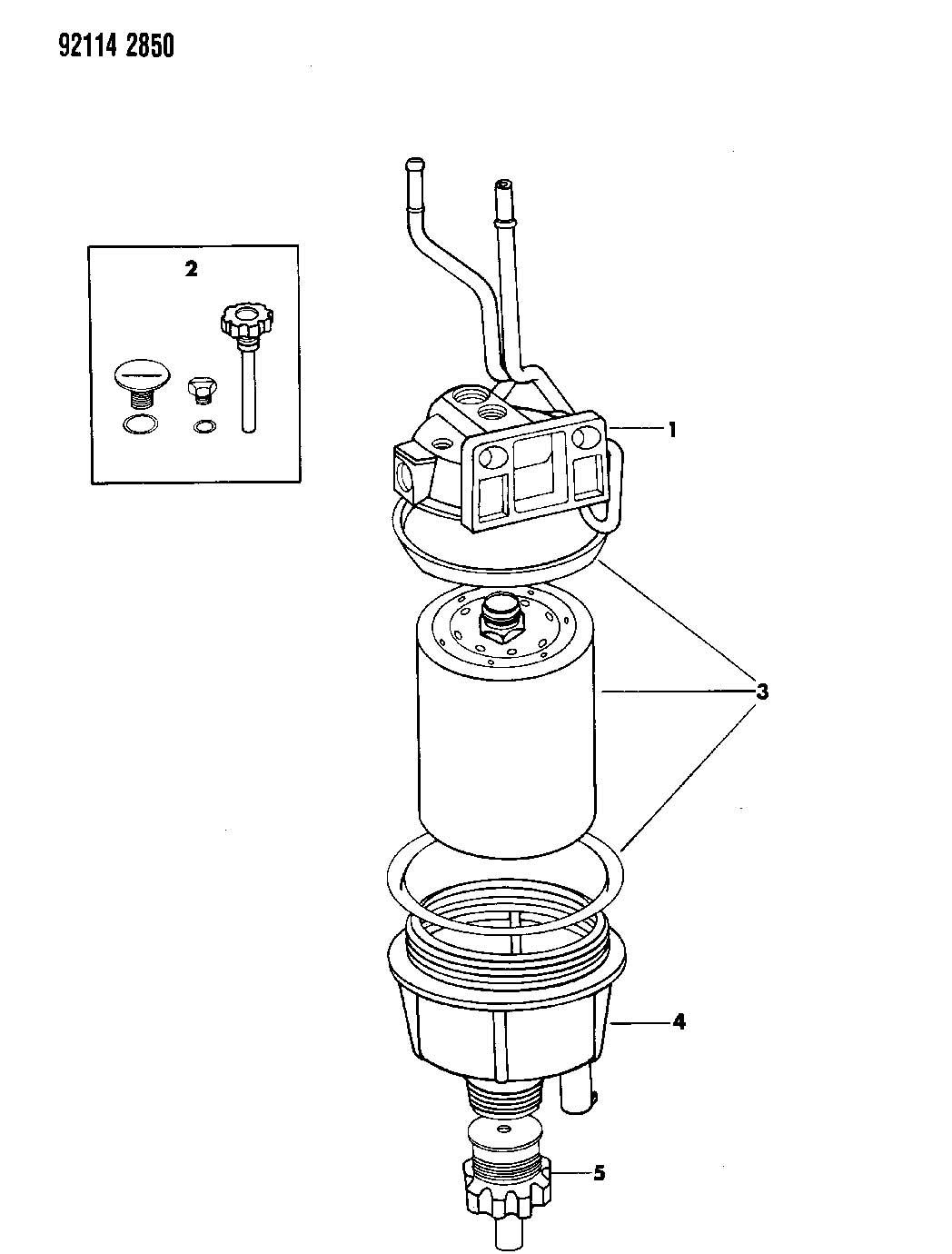 Dodge Avenger Bowl Fuel Filter Fuelwater