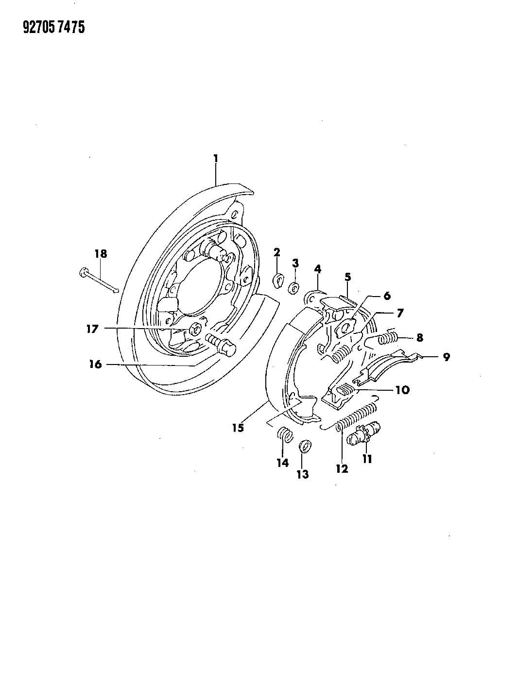 Dodge Dakota Clip Retainer Brake Chamber Brake Lever To