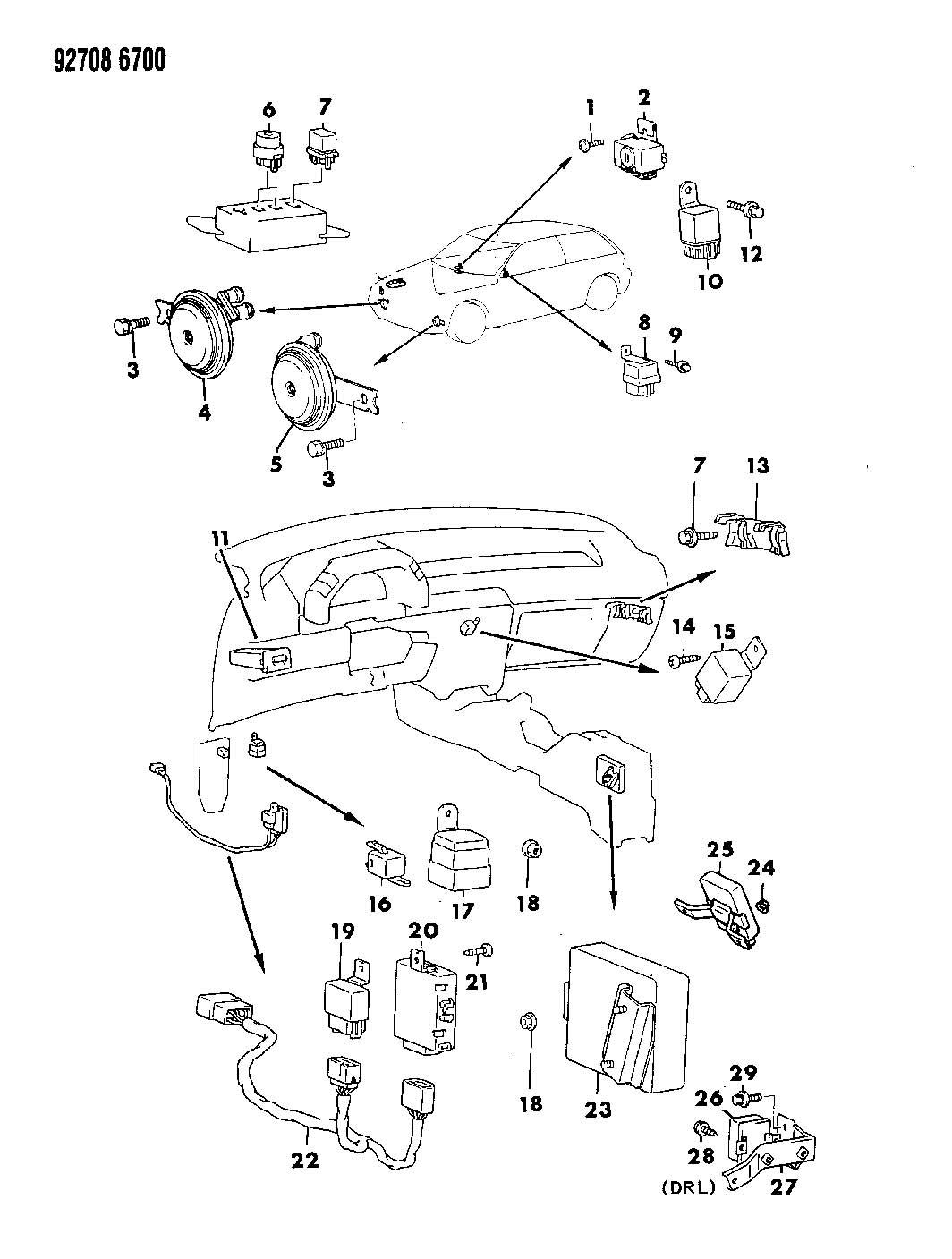 Dodge Ram 2500 Relay. Electrical. Relayssensorscontrol