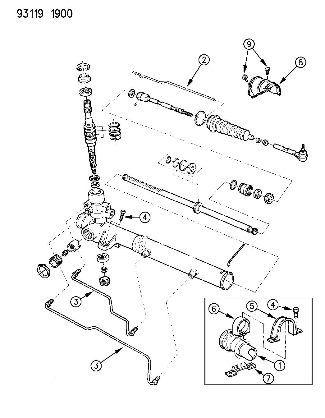 Service manual [Change A 1993 Dodge Caravan Rack And