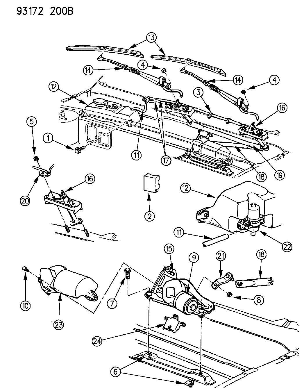 Chrysler Sebring Nut. Wiper arm. Hex flange (m8x1.25