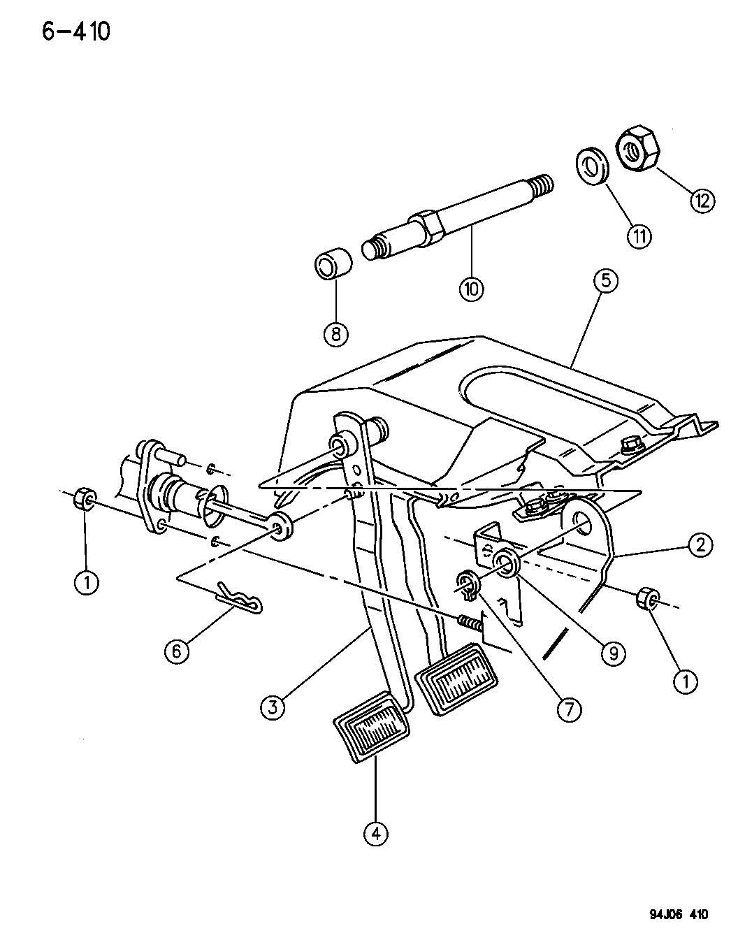 1995 Jeep Wrangler PEDAL, CLUTCH WRANGLER, YJ
